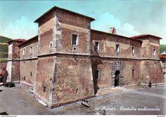 Perugia - NORCIA-PERUGIA-CASTELLO MEDIEVALE-CARTOLINA VIAGGIATA NEL 1966-VERA FOTOGRAFIA