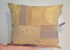 Decorative Patchwork Pillow One-of-a-Kind Sewn by VanDijkDesigns Patchwork Pillow, Fabric Design, Decorative Pillows, Diaper Bag, Throw Pillows, Sewing, Bags, Decorative Throw Pillows, Handbags
