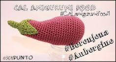 30yPunto: #CAL Amigurumi Food 1 #Berenjena