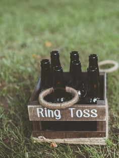 Craft up some DIY carnival games like ring toss or basket toss to keep the kids busy at any wedding celebration. Yard Games For Kids, Wedding Reception Games, Wedding Yard Games, Wedding Receptions, Camp Wedding, Picnic Table Wedding, Wedding Favors, Reception Checklist, Destination Wedding
