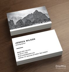 Photographer Portfolio Business Cards