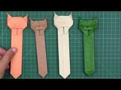 本のための折り紙猫のブックマーク - 簡単な折り紙 ねこのしおり - YouTube