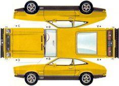 o scale paper fence template | Oito cores para escolher desse Mustang II Hatchback 1974, bem fácil ...
