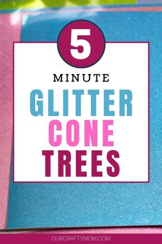 You can make a trio of Easy DIY Glitter Cone Christmas Trees in under 15 minutes! Use your favorite colors. You could even make gold and silver for New Year's Eve decor. #ourcraftymom #5minutecrafts #easycrafts #glitterconetrees #christmascrafts #glittertrees Diy Christmas Ornaments, Cone Christmas Trees, Christmas Wreaths, Christmas Decorations, Easy Diy, Easy Crafts, Cute Diys, Diy Videos, Dollar Stores