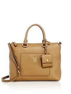 05536da7658cb Prada - Daino Zip Leather Tote