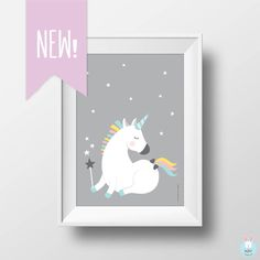 Unicorn poster, Nursery unicorn poster, Kids room poster, Unicorn kids print, Nursery Unicorn print, Nursery print, Unicorn poster by yanukka on Etsy