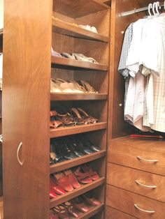 Pull Out Shoe Racks! Great Idea!