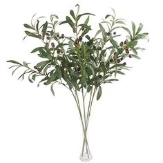 JAROWN 5 pcs 28 Green Olive Artificial Plants Branches Fruits Fake Flowers Branch Leaves for Home Office Crafts Decoration * Visit the image link more details. (This is an affiliate link) #ArtDIYCraftsArtificialFlowers