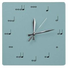find clock hands, easy. put them on some sort of material and get the notes on there, so cute.