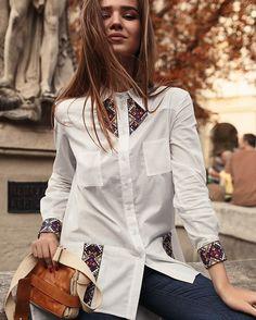 Embroidery Slavic Fashion in modern life. Fashion Details, Look Fashion, Fashion Outfits, Womens Fashion, Textiles Y Moda, Ukrainian Dress, Short Frocks, Diy Clothes, Clothes For Women