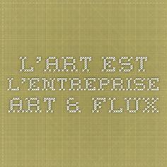 L'ART EST L'ENTREPRISE - Art & Flux