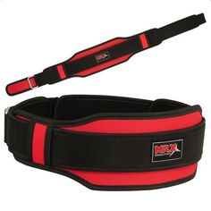 Weight Lifting Belt with Double Back Support All Sizes Red - List price: $19.99 Price: $14.99 Saving: $5.00 (25%)