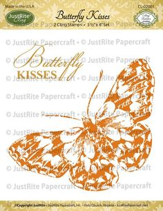 butterfly vines background stamp | Home > Products > Butterfly Kisses Cling Set