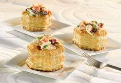 Dried cranberries and toasted walnuts give this delectable shrimp and crab salad great flavor and texture. Served in puff pastry shells, this salad is perfect for Mothers Day, baby showers or bridal luncheons.