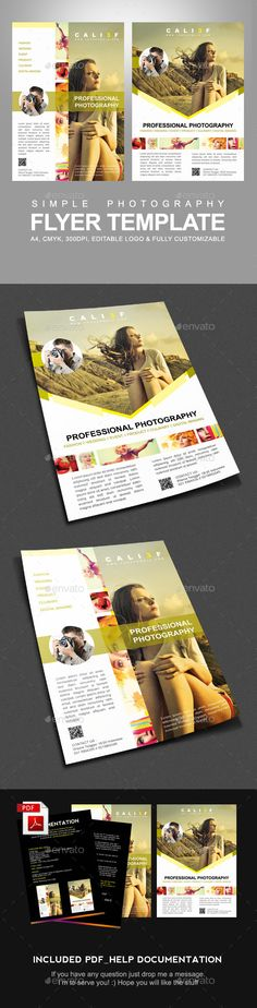 Photography Flyer Template - Corporate Flyer Template PSD. Download here: http://graphicriver.net/item/photography-flyer-template/10406730?s_rank=1797&ref=yinkira