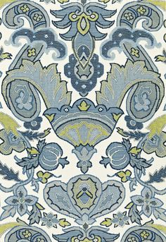 Deluxe aegean decorator fabric by F Schumacher. Item 175080. Free shipping on F Schumacher luxury fabrics. Always first quality. Over 100,000 fabric patterns. Width 53 1/2 inches . Swatches available.
