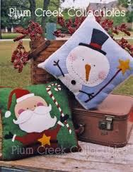Image result for Christmas felt cushions