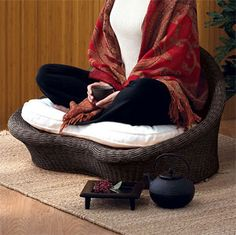 If you're into yoga and meditation then this is the perfect chair for you. It's made from an eco-friendly rattan and can be used as a meditation chair as well as a beautiful, natural accessory for any room.