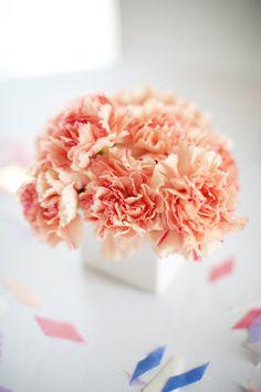 #carnation, #centerpiece Photography: Katie Osgood Photography - katieosgood.com/blog Read More: http://www.stylemepretty.com/2011/09/22/new-york-wedding-by-katie-osgood-photography/