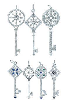 Tiffany collection of diamond keys