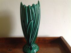Vintage Sylvac Hyacinth Vase in the dark green by Onmykitchentable, £15.00