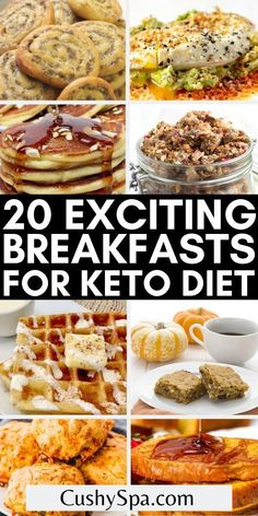 If you are looking for the best ketogenic recipes for breakfast you will love these delicious keto breakfasts that aren't eggs. You can easily enjoy more exciting keto meals for your low carb diet. #Keto #KetoBreakfast Ketogenic Recipes, Low Carb Recipes, Healthy Recipes, Ketogenic Diet, Eat Breakfast, Breakfast Recipes, Dinner Recipes, Low Carb Granola, Eating Eggs