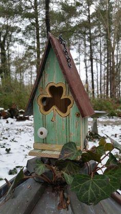 Shamrock birdhouse creation, 2015 edition.