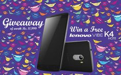 "COUPONHAAT invites you to ""Win a FREE Lenovo Vibe K4 Note of worth Rs. 11,999/-"". To Participate Click Here: http://goo.gl/lUUM4Y ‪#‎Giveaway‬ ‪#‎Lenovo‬"