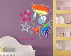 Interior My Little Pony Bedroom Ideas my little pony bedroom decoration i made for daughters cool rainbow dash wall decal