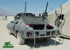 Post Apocalyptic Mad Max Wasteland Road Warrior Rearview