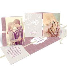 Ribbon Wedding Invitations -- Fairy Tale Floral #peartreegreetings #weddinginvitationideas #weddingideas #photoideas