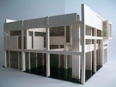 House II / Falk House (1969) in Hardwick, Vermont, by architect Peter Eisenman.  LEGO Model by Nick Barrett (TechnicNick).