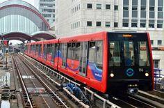 DLR. Docklands light railway. - London