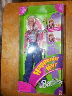 Vintage Mattel 1998 Happenin' Hair Barbie Doll NEW NIB #22882