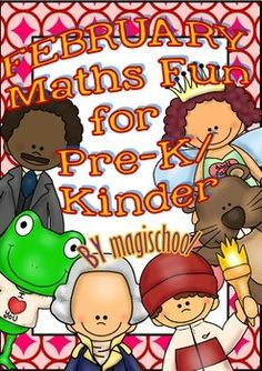 February Maths Funny Printables for Pre-k/K (1 FREE item in the Preview)