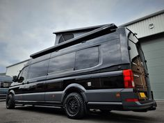 VW Crafter Sporthome - 4 Motion - Elevating Roof - Mclaren Sports Homes Ltd | Luxury Sporthome & Motorhome Conversions Ambulance, Van Conversion Furniture, Vw Camper Conversions, Land Rover Camping, Black Rhino Wheels, Mercedes Sprinter Camper, Romantic Camping, Vw Crafter, Campervan Interior
