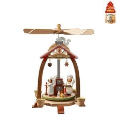 """Christmas World Pyramid """"In the Christmas Bakery"""" - Outstanding German Quality, truly unique wooden pieces by Kaethe Wohlfahrt"""
