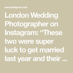"""London Wedding Photographer on Instagram: """"These two were super luck to get married last year and their story just got published on @lovemydress Go check 👀🧡 . . #hommehouse…"""" Got Married, Getting Married, London Wedding, Mirror Mirror, Brides, How To Get, Check, Instagram, Wedding Bride"""