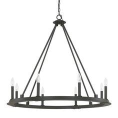 Minimalist Iron Ring Chandelier - 8 Light