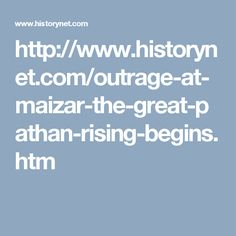Outrage at Maizar: The Great Pathan Rising Begins by Mark Simner