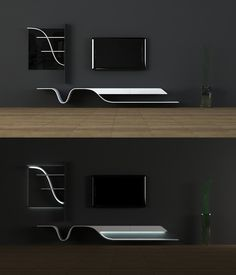 20 Furniture Marvels For The Futuristic Home – Hongkiat – Anime pictures to hairstyles Tv Unit Decor, Tv Wall Decor, Futuristic Interior, Futuristic Furniture, Futuristic Bedroom, Tv Wall Design, House Design, Booth Design, Banner Design