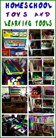 School-at-home toys and learning tools