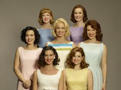 Bright '60s pastels on the cast of The Astronaut Wives Club!