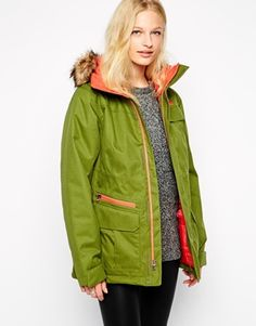 The North Face Mountain Coat With Faux Fur Trimmed Hood