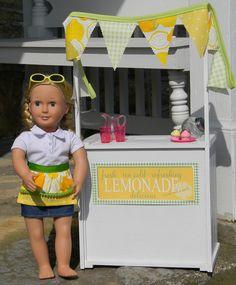 American Girl Doll sized lemonade stand