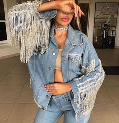 Light weight jackets to enhance your outfit. Edgy Style, Mode Style, Denim Fashion, Fashion Outfits, Womens Fashion, Fashion Trends, Stage Outfits, Denim Outfit, Fashion Killa