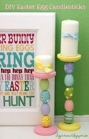 I Dig Pinterest and I Did it Too!: Easter Egg Candlesticks