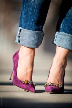 Love heels and jeans. Have yet to pull it off but one day...