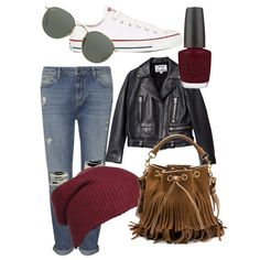 Saturday by olive-izzet on Polyvore featuring polyvore, fashion, style, Acne Studios, Whistles, Converse, Yves Saint Laurent, Ray-Ban and OPI