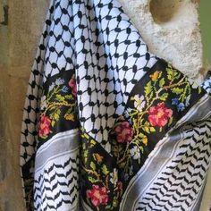 Palestinian embroidery on Palestinian hatta <3